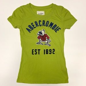 ABERCROMBIE & FITCH Lime Green Logo Shirt